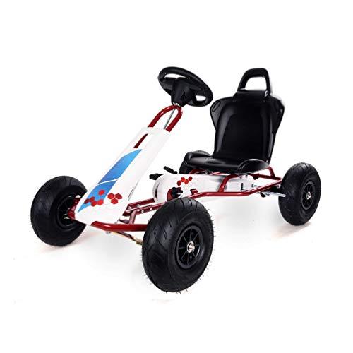 Ferbedo F005730 Gokart mit Pedalen AR5C Fresh, (Kart mit Freilaufautomatik, Kinder 3 – 8 Jahre, Tragkraft 50 Kg), Weiß, Rot