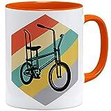 OM3® Bonanza Fahrrad Tasse ||| | Keramik Becher | 11oz 325ml | Beidseitig Bedruckt | Orange