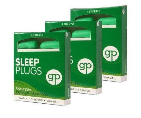 LEISTUNGSPAKKET GP GET PLUGGED SLEEP PLUGS 3 Stück x 3 Paar Ohrstöpsel zum Schlafen, Ausruhen, zu studieren. Sehr hohen Dämpfungsfaktor für ein höchstmaß an Ruhe. Gehörschutzstöpsel schaum. 9 Paar