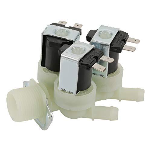 Válvula solenoide eléctrica Entrada de agua de 3 vías N/C Válvula solenoide de lavadora eléctrica cerrada normal Cerrado CA 220V G3 / 4