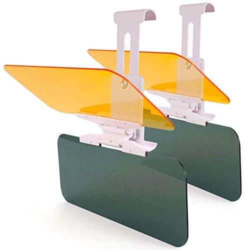 MONOJOY 2 x Verlängerung für Auto Sonnenblende Auto Blendschutz HD Visier Tag und Nachtsichtschutz, Anti UV Blendschutz, Blendschutz Auto Frontscheibe