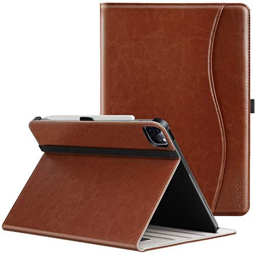 ZtotopCases Custodia per Nuovo iPad Pro 12.9 2021 (5a generazione), Cover in pelle PU premium con Tasche, Angoli di Visione Multipli, Automatica Notte/Veglia, per iPad Pro 12.9 inch 2021, Marrone