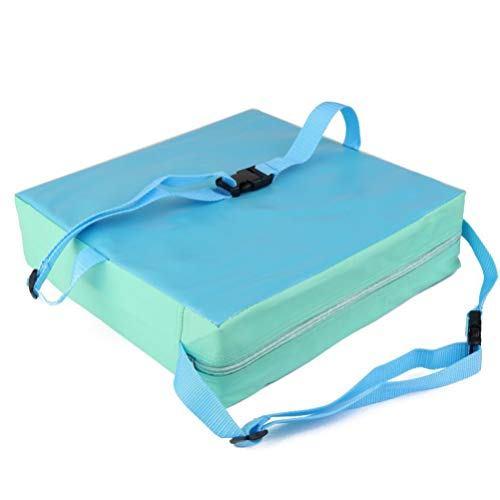 NUOBESTY Cojín de Silla de Comedor para Bebé Cojín de Asiento Elevador Cojín de Refuerzo para Niños Silla de Comedor Asientos de Bebé para Niños (Azul)