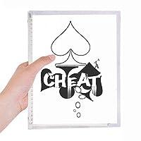 カードのギャンブルチップパターン遊び道具 硬質プラスチックルーズリーフノートノート