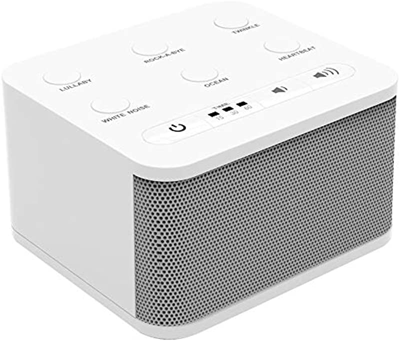 Big Red Rooster Baby White Noise Machine 6 Sleep Sounds Sound Machine For Kids Toddler Or Infant Plug In Or Battery Powered Portable Soother With Lullaby Is Perfect For Travel