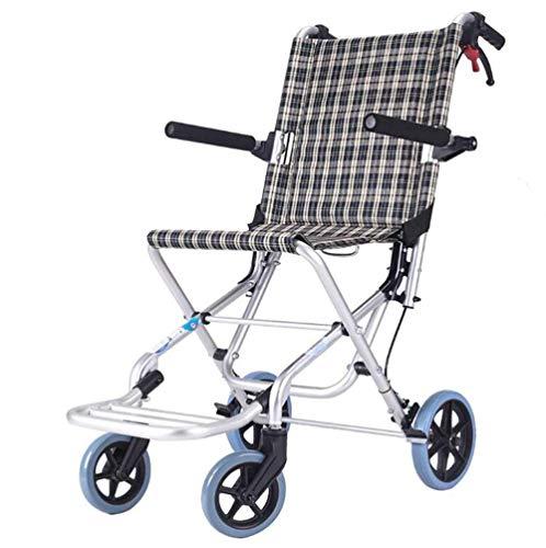 Ultra lichtgewicht transport stoel medische hulp ouderen, gehandicapten, revalidatie patiënt verpleegwagen opvouwbare handleiding Ouderen gehandicapten rolstoel goedkoop aluminium, Y-L