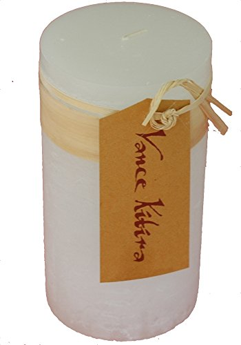Vance Kitira Timber Collection Pillar Candle - White (3.25' by 3')