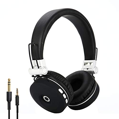 EK-MH9 Bluetooth Headphones Over Ear, Comfortable Wireless Headphones, Hi-Fi Sound and Soft Earpads, Built-in Mic, Foldable,w/Wired Mode, for Online Class, Home Office, PC/Cell Phones/TV (Silver)