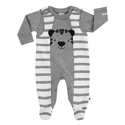Jacky Baby Strampler mit Shirt Wild Jungle grau 74