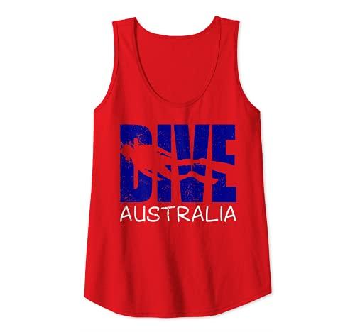 Mujer Buceo Australia Diversión Buceo Aventuras Para Mujeres Buzos Camiseta sin Mangas