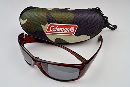 Coleman (コールマン) トリアセ偏光 サングラス CO3020-1 ロゴ入りハードケース付 (ハードケース:迷彩柄)