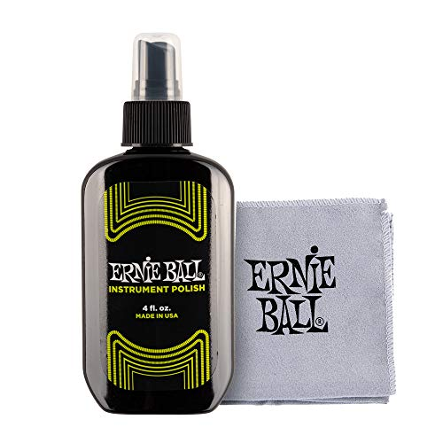 Ernie Ball Instrument Polish with mircofiber cloth