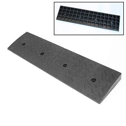 Goede kwaliteit rubberen rampen, 4-10 cm, slijtvaste antislip-drempelhulp, rolstoel/auto-opstapkussen/autowas-garageservice-hellingen. 100 * 25 * 4CM zwart