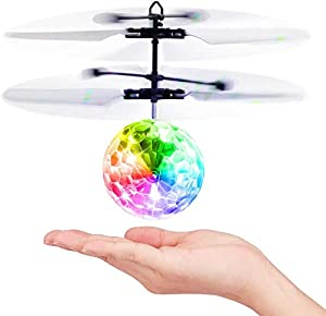 Baztoy Kids Toys Flying Ball, Remote Control Helicopter Induction Mini Drone RC Aircraft Sensory Gadget Children Birthday Easter Gifts for Boys Girls Interactive Indoor Outdoor Garden Game by Baztoy