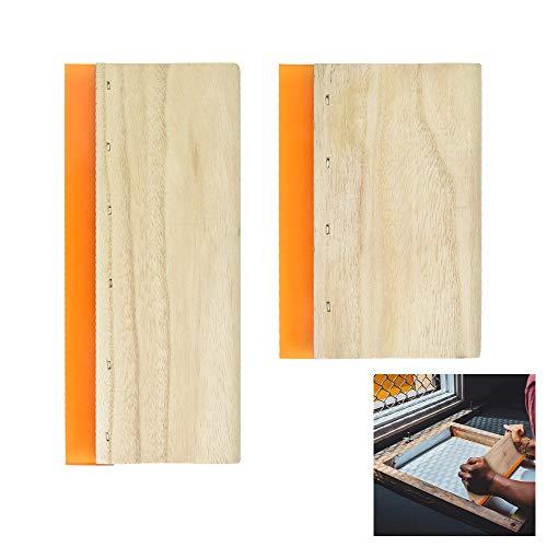 LYTIVAGEN 2 Stück Siebdruck Rakel Bildschirm Drucken Rakel Stoff Craft Rakel Siebdruckrakel mit Holzgriff 24x10,5cm/15x10,5cm Bildschirm Drucken Rakel Holz Siebdruckrakel für Drucken Siebdruck