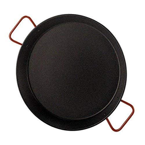 Garcima 5020530 Paellera Valenciana Antiadherente para 16 Personas 55 cm, Acero, Negro/Rojo, 6 Pack