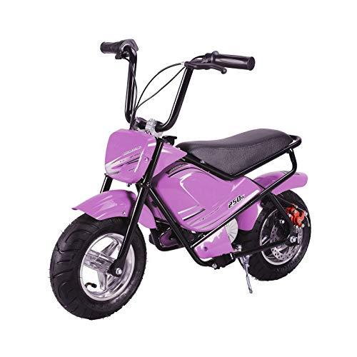 Mini moto eléctrica infantil 250w / mini scooter para niños de bateria/moto infantil electrica 24V 7AH (Rosa)