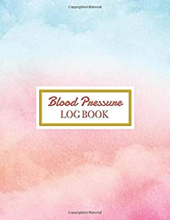 """Blood Pressure Log Book: Daily Personal journal Record and your health Monitor Tracking Blood tracker Pressure, Heart Rate, Weight, Temperature, Notes ... Diary Notebook)8.5x11"""" 52 Week cover 1 year"""