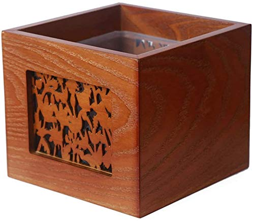 RYH Holzmüll Mini Schreibtisch, kleine Mülltonne ohne Deckel Kommode Wohnzimmer Couchtisch Lagerung Recycling Papierbox