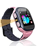 LDB Direct Kids Smart Watch Phone Watches Compatible with Android and iOS, Smartwatch with SOS Call Touch Screen Voice Chat Flashlight for Kids 3-12 Year Old (Pink)