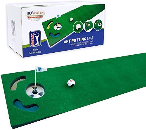 PGA Tour Putting Matte mit Übungsball und Training Tipps
