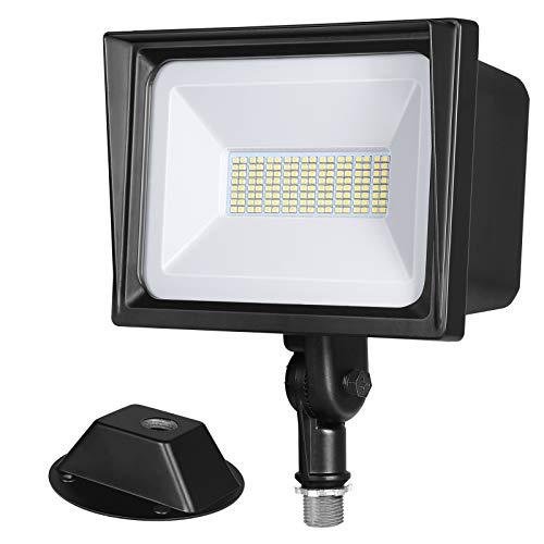 DEWENWILS 65W LED Flood Light Outdoor, 6670 Lumen Super Bright(500W Halogen Equivalent) IP65 Waterproof Knuckle Mount LED Security Light, 5000K Daylight for Landscape, Garden, Yard, Garage, UL Listed