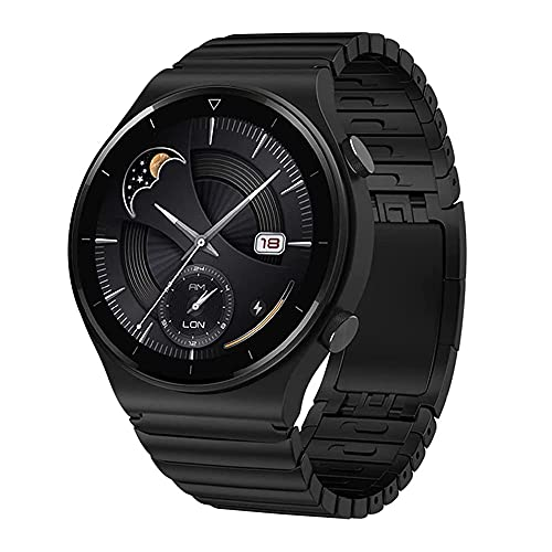 VeveXiao Pulsera compatible con Huawei Watch GT 46 mm/GT2 Pro/GT2 46 mm/Porsche, correa de metal ajustable de 22 mm para reloj Samsung Galaxy 46 mm/Galaxy Watch 3 45 mm/Gear S3 Band (negro)