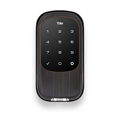 Yale Security YRD120NR0BP Yale Real Living T1L Key Free Touchscreen Deadbolt in Oil Rubbed Bronze (Standalone) (YRD120)