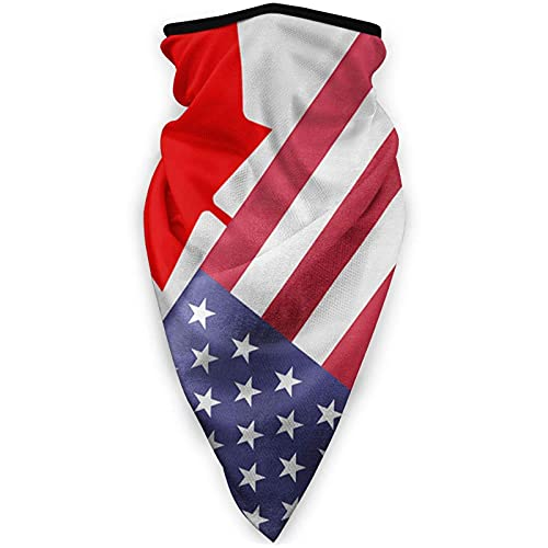 USA Kanada Mexiko Flagge Sport Face Cover Multifunktionstuch Sturmhaube für Erwachsene Manschetten Kopfbedeckung Winddicht Schals und Kopftücher Halstuch Unisex Gesichtsmaske Schwarz
