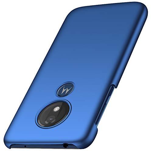 Anccer Cover Moto G7 Power, [Alta Qualità] [Ultra Slim] Anti-Scratch Hard PC Case Custodia per Moto G7 Power (Azzurro Liscio)