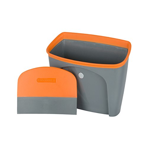 Casabella Countertop Dustpan, Graphite and Orange