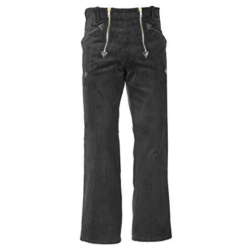 JOB Zunfthose/Zunft-Hose aus Trenkercord/Trenker-Cord mit Schlag, schwarz (44)