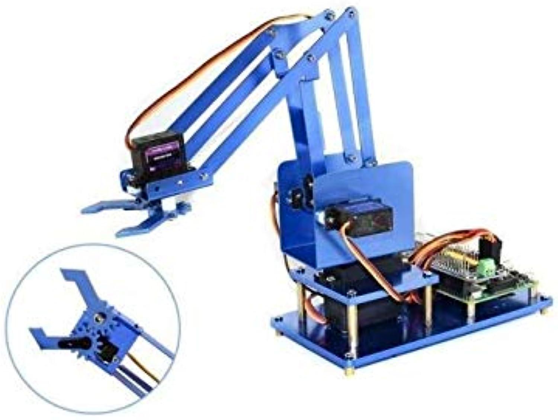 gran descuento Seeed Studios 4-DOF 4-DOF 4-DOF Kit de Brazo de Robot de Metal para Raspberry Pi, versión azultooth + WiFi  Más asequible