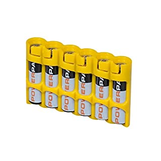 Storacell by Powerpax SlimLine AAA Battery Caddy, Yellow, Holds 6 Batteries (B004YG7LEE) | Amazon price tracker / tracking, Amazon price history charts, Amazon price watches, Amazon price drop alerts