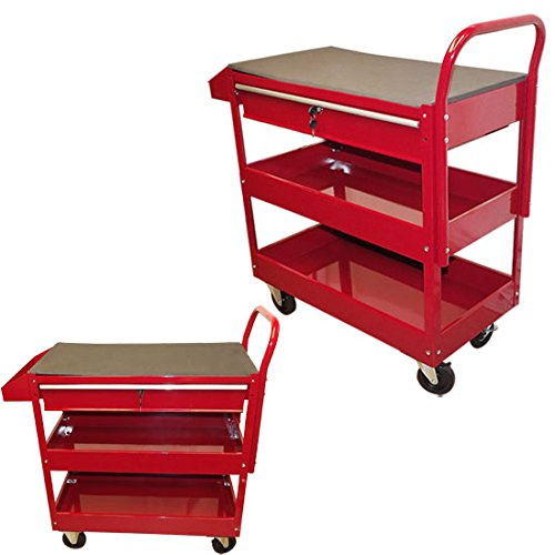 RED Mobile 36' Steel Tool Cart Roller Rolling Garage Shop Workbench Tool Holder