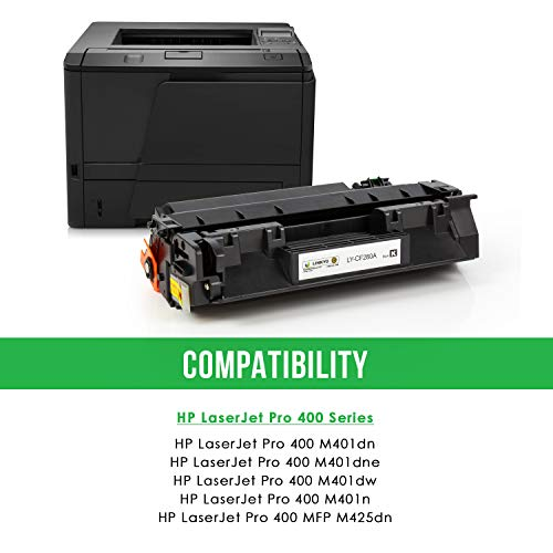 LINKYO Compatible Toner Cartridge Replacement for HP 80A CF280A (Black) Photo #2