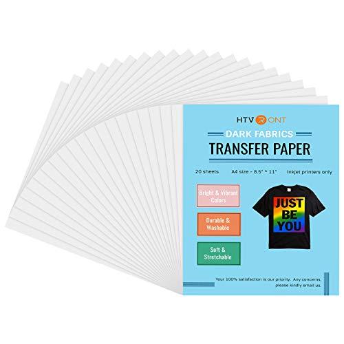 HTVRONT Heat Transfer Paper for Dark Fabrics, 8.5