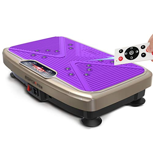 Vibration Machine Indoor Silent Weight Loss Machine Gym Fitness Equipment Thuis Vibration Machine, Bearing Over 150kg (Color : Purple, Size : 56 * 36 * 13cm)
