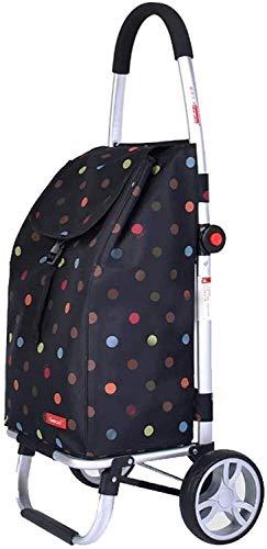 I will take action now Handtuchhalter Einkaufstrolleys voll zusammenklappbarer tragbarer Einkaufswagen für ältere Menschen und kleine Anhänger, Aluminium-Legierung, Mehrzweck-Handkarre (Farbe: E)