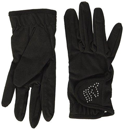 Pfiff 102120 Kinder Handschuhe, Kinderhandschuhe Reithandschuhe, schwarz 10 Jahre