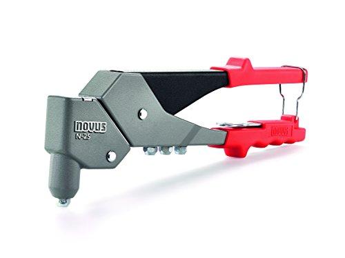 Novus Blindnietzange N-25 Vario, aus Aluminium, Nietenzange mit 360° Schwenkkopf, 1-Hand-Bedienung, Griffverriegelung