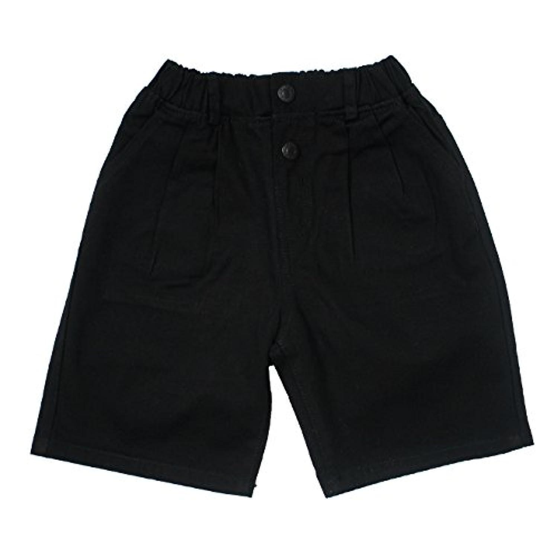 ROCKET SALAD Bangers ハーフ 綿パンツ 子供服 キッズ 男の子 ブラック 140サイズ【タグ表記13】