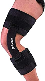 Mueller 2100 Hinged Knee Brace, Black, One Size Fits Most | Knee Brace for Sports, Lineman's Knee Brace