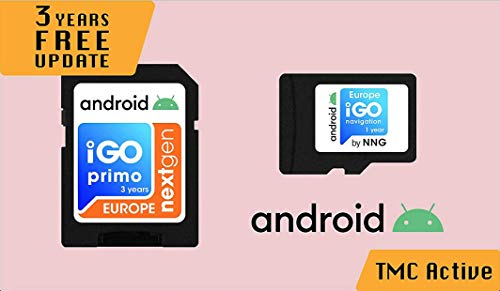 MicroSD Card with Licensed Android Navigation Software iGO Primo NextGen 3D Maps EUR/RUS/TUR for PKW/Truck/Camper/ 3 Years Free Maps Update/NO Speedcam Alert Option