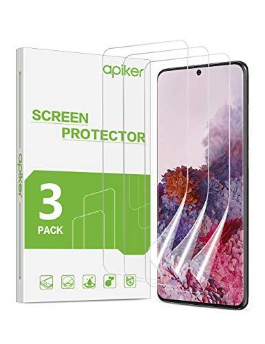 apiker [3 Stück] Schutzfolie für Samsung Galaxy S20, Samsung Galaxy S20 TPU Displayschutzfolie, [Anti-Kratzen], [Anti-Öl], [Anti-Bläschen], [Hohe Definition], [Hohe Empfindlichkeit]