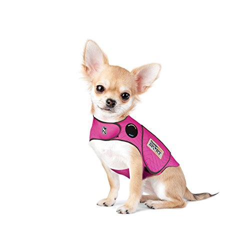 Thundershirt Sport Dog Anxiety Jacket | Vet Recommended Calming Solution Vest for Fireworks, Thunder, Travel, Separation | Fuchsia, XX-Small