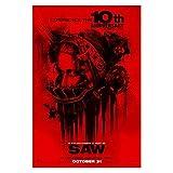 NOVELOVE Saw Horror Movie Poster Leinwand Malerei HD-Druck