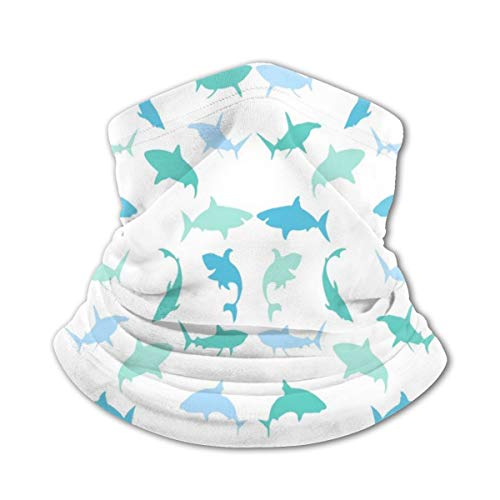 Decopik Shark Nautical Neck Gaiters Kids Face Mask Summer Bandana for Boys Girls