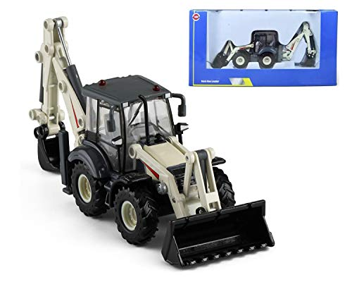 Gemini&Genius Back Hoe Loader 1:50 Scale Metal Heavy Duty Bi-Directional Excavator Construction Vehicles Mechanical Digger Model ,Christmas and New Year Gift Box for Kids