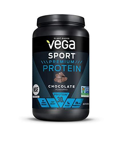 Vega Sport Premium Protein, Chocolate, Post Workout - Certified Vegan, Vegetarian, Keto-Friendly, Gluten Free, Dairy Free, BCAA Amino Acid (19 Servings / 1 1lb 13.5oz) from Vega Sport Sport Viega Protein